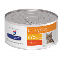 Prescription Diet c/d Multicare Urinary Care влажный корм для кошек, с курицей, 156г