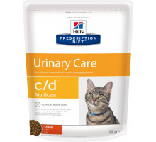 Prescription Diet c/d Multicare Urinary Care сухой корм для кошек, лечение цистита и МКБ, с курицей