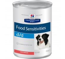Prescription Diet d/d Food Sensitivities влажный корм для собак, с лососем, 370г