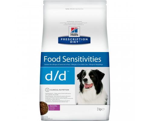 Prescription Diet d/d Food Sensitivities сухой корм для собак, с уткой и рисом