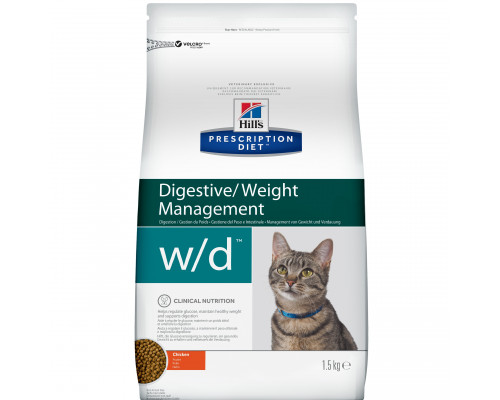 Prescription Diet w/d Digestive/Weight Management сухой корм для кошек, с курицей