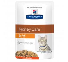 Prescription Diet k/d Kidney Care влажный корм для кошек, с курицей, 85г