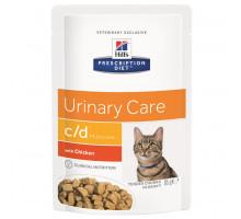 Prescription Diet c/d Multicare Urinary Care влажный корм для кошек для здоровья мочевыводящих путей, с курицей, 85г