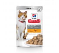 Science Plan Sterilised Cat влажный корм для кошек и котят от 6 месяцев, с курицей, 85г