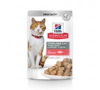 Science Plan Sterilised Cat влажный корм для кошек и котят от 6 месяцев, с лососем, 85г