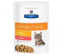 Prescription Diet c/d Multicare Urinary Care влажный корм для кошек для здоровья мочевыводящих путей, с лососем, 85г