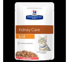 Prescription Diet k/d Kidney Care влажный корм для кошек, с лососем, 85г
