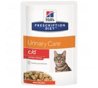 Prescription Diet c/d Multicare Urinary Stress влажный корм для кошек, с курицей, 85г