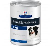Prescription Diet z/d Food Sensitivities влажный корм для собак, диетический гипоаллергенный, 370г