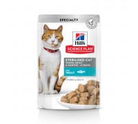 Science Plan Sterilised Cat влажный корм для кошек и котят от 6 месяцев, с форелью, 85г