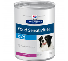 Prescription Diet d/d Food Sensitivities влажный корм для собак, с уткой, 370г
