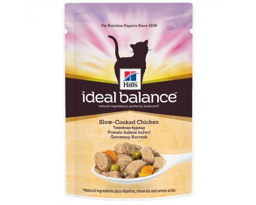 Ideal Balance влажный корм для кошек, с томленой с курицей, 85г