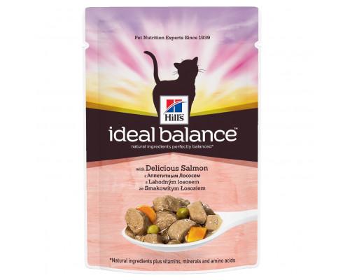 Ideal Balance влажный корм для кошек, с аппетитным лососем, 85г