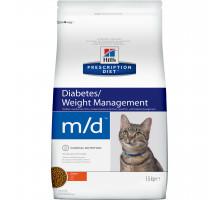 Prescription Diet m/d Diabetes/Weight Management сухой корм для кошек, с курицей