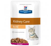 Prescription Diet k/d Kidney Care влажный корм для кошек, с говядиной, 85г