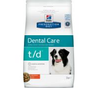 Prescription Diet t/d Canine корм для собак для лечения заболеваний полости рта, с курицей