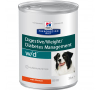 Prescription Diet w/d Digestive/Weight/Diabetes Management влажный корм для собак, с курицей, 370г
