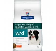 Prescription Diet w/d Digestive/Weight/Diabetes Management сухой корм для собак, с курицей