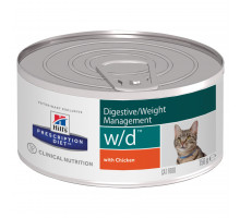 Prescription Diet w/d Digestive/Weight Management влажный корм для кошек, с курицей, 156г