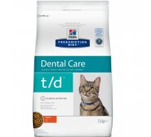 Prescription Diet t/d Dental Care сухой корм для кошек, с курицей