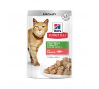 Science Plan Youthful Vitality влажный корм для кошек старше 7 лет, с лососем, 85г