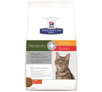 Prescription Diet Metabolic + Urinary Stress сухой корм для кошек, лечение цистита, с курицей