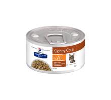 Prescription Diet k/d влажный корм для кошек, рагу с курицей и овощами, 82г