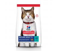 Сухой корм Hills Science Plan для пожилых кошек (7+)для поддержания здоровья в период старения, с тунцом, 1,5 кг