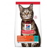 Сухой корм Hills Science Plan для взрослых кошек для поддержания жизненной энергии и иммунитета, с тунцом, 3 кг
