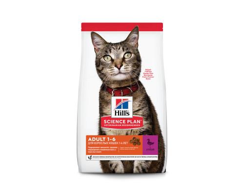 Сухой корм Hills Science Plan для взрослых кошек для поддержания жизненной энергии и иммунитета, с уткой, 300 г